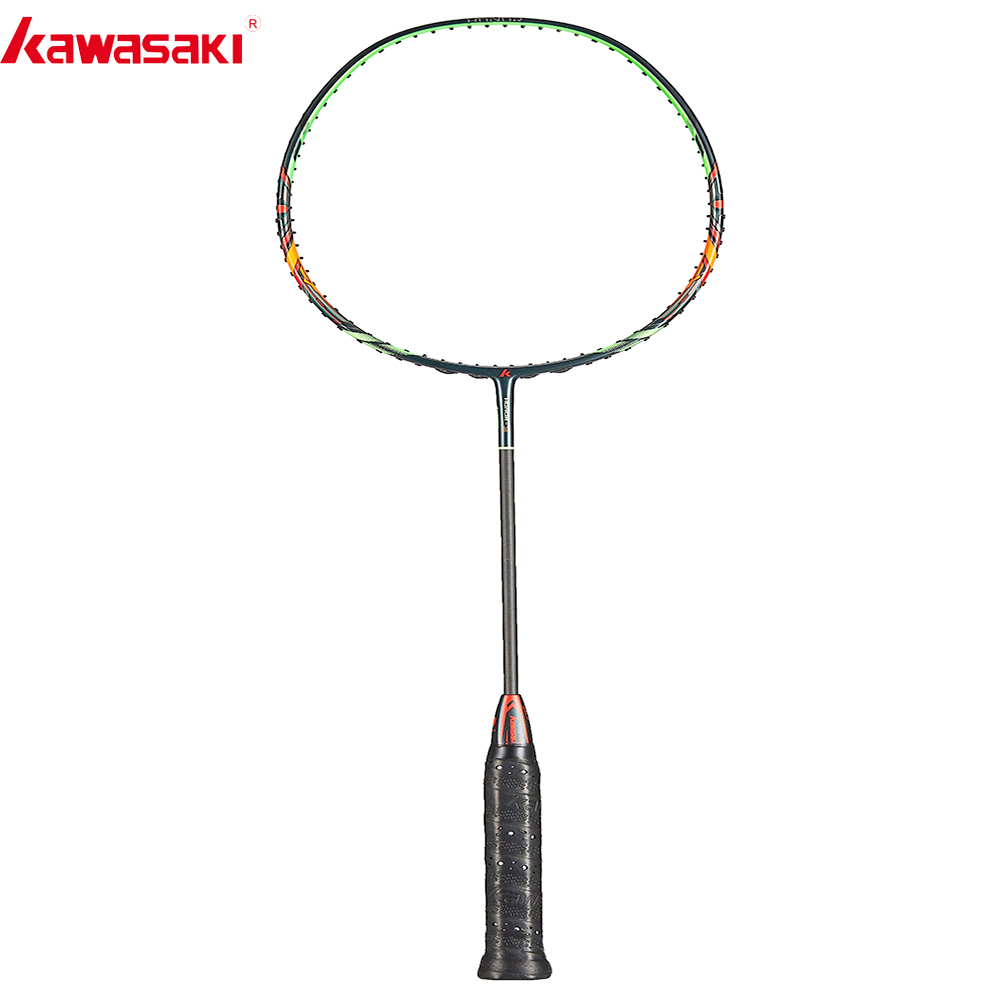 Raquettes de Badminton Kawasaki 2019 attaque Type HONOR S6 30T cadre de boîte en Fiber de carbone raquette pour joueurs intermédiaires amateurs