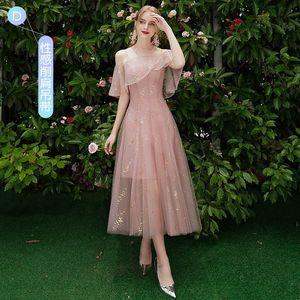 Image 3 - Beauty Emily robe de demoiselle dhonneur, ligne A, en dentelle, rouge, longues, robes de bal de mariage pour femmes, 2019