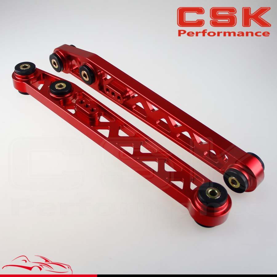 1 paire de bras de cambrure de contrôle de Suspension inférieure arrière pour Honda Civic EK EJ 96-00 bleu/noir/rouge/violet/argent/or