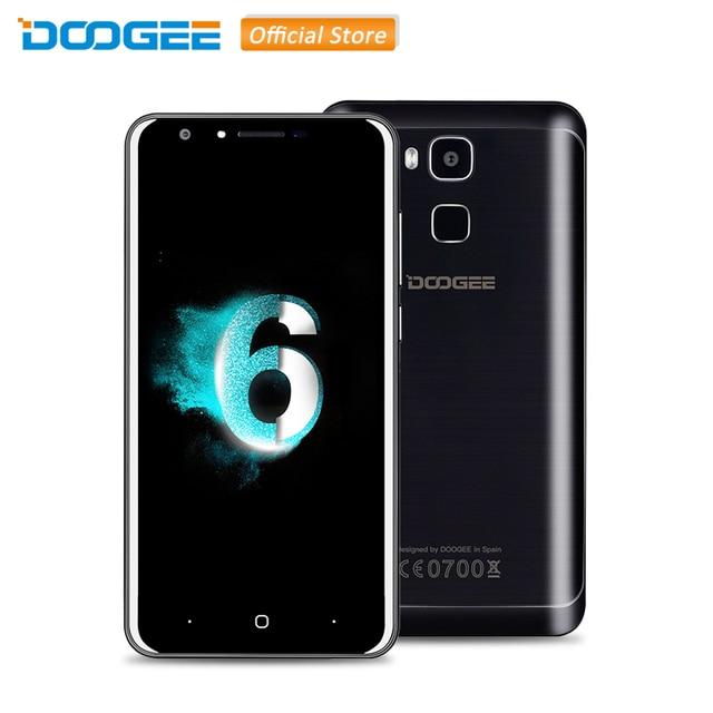 Original DOOGEE Y6 5.5 inch Android 6.0 MTK6750 Octa Core 2GB RAM 16GB ROM 4G Smartphone with 13.0MP OTA HIFI Fingerprint ID