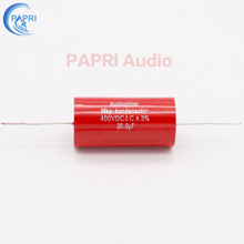 цена PAPRI 20UF 400VDC Axial MKP DIY Audio Grade Capacitor For HiFi Tube Guitar Amplifier  Lot/1PCS онлайн в 2017 году