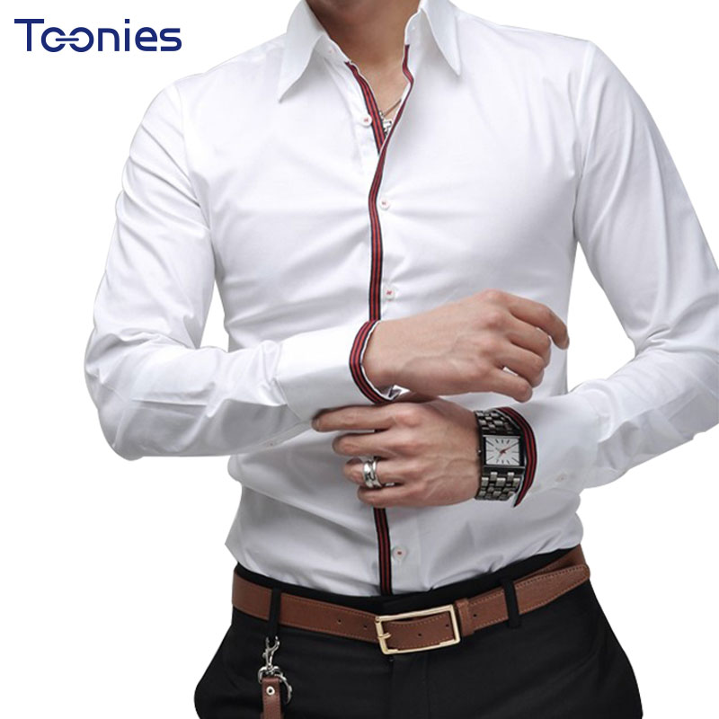Men Shirts Social Business Shirts Solid Turndown Collar Slim Fit Brand Man Casual Shirts High Quality Plus Size Camisa Masculina
