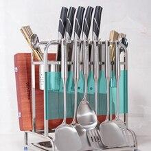 304 многофункциональная кухонная утварь из нержавеющей стали полка стойка палочки для еды подставка для кухонных ножей разделочная доска LU4235
