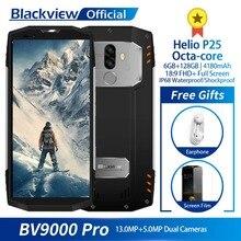 "Blackview BV9000 Pro IP68 Водонепроницаемый смартфон Helio P25 Восьмиядерный 6 ГБ + 128 ГБ 5,7 ""FHD Dual SIM мобильный телефон 4180 мАч Батарея"