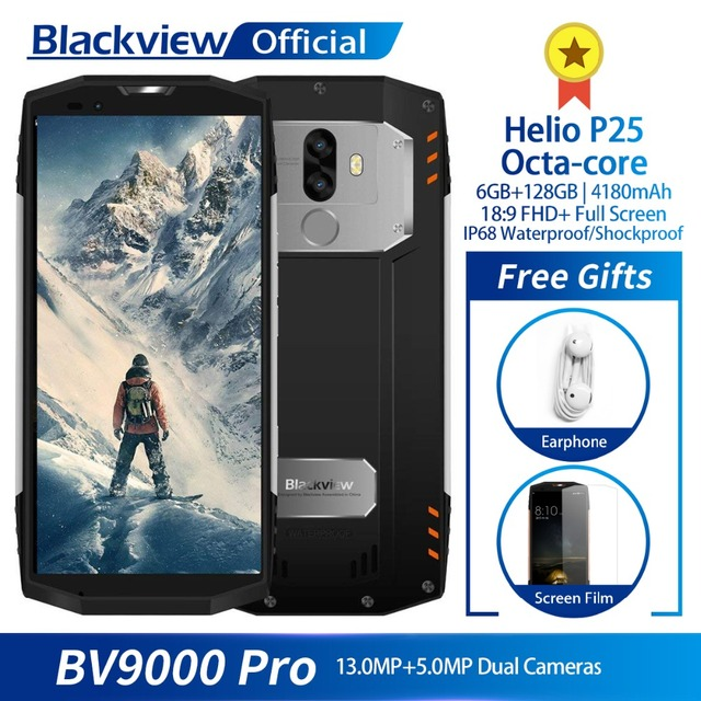 "Blackview BV9000 Pro IP68 wodoodporny smartfon Helio P25 octa core 6GB + 128GB 5.7 ""FHD telefon komórkowy z dual sim 4180mAh baterii"