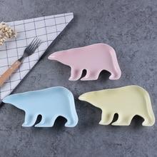 Children Decor Animal Bone Snack Dish Plate Cake Pastry Fruit Porcelain Tray Food Dinner Ceramic Tableware Christmas Gift