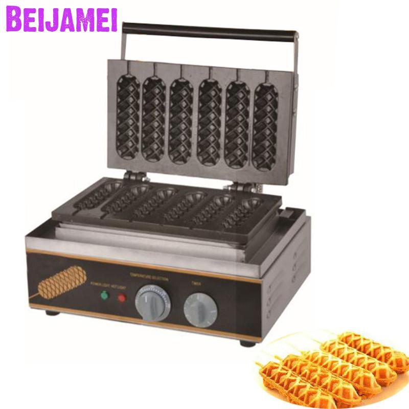 BEIJAMEI snack muffin hot dog machine commercial lolly hot dog waffle maker electric lolly waffle bakery machine for saleBEIJAMEI snack muffin hot dog machine commercial lolly hot dog waffle maker electric lolly waffle bakery machine for sale