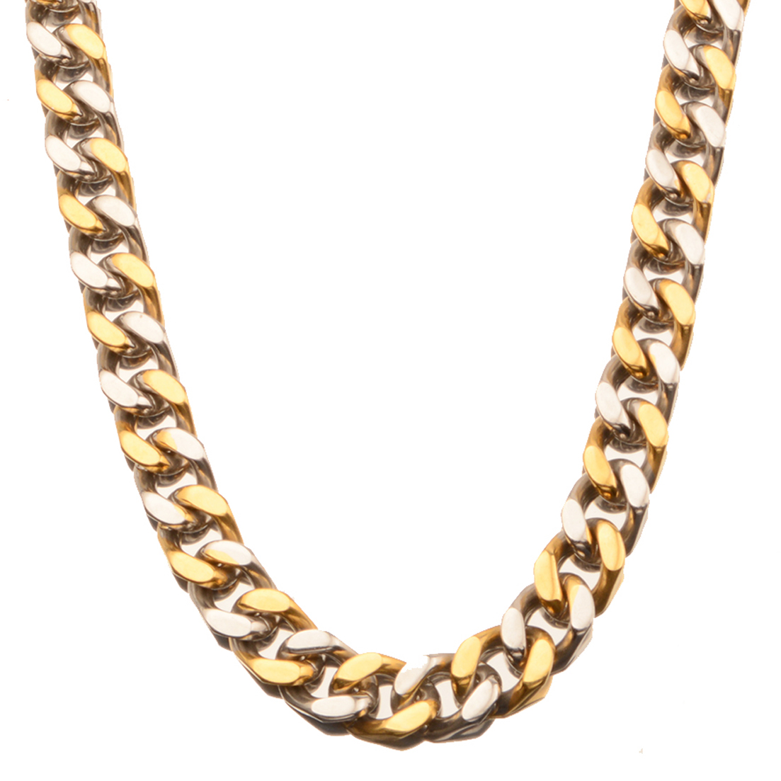 Hot Sale Mens Fashion Jewelry 9 11 13 15 MM 7 32 Inch Stainless Steel Silver Gold Curb Cuban Chain Necklace Charm Jewelry in Chain Necklaces from Jewelry Accessories