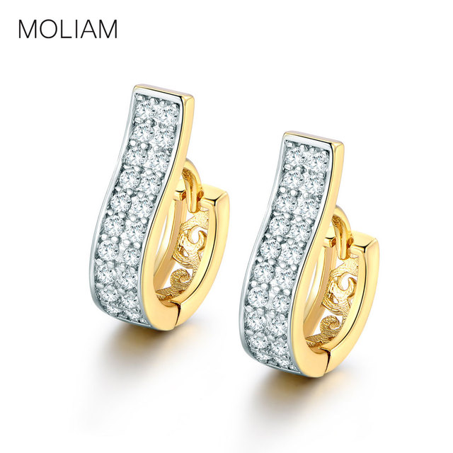 MOLIAM High Quality Small Hoop Earrings For Women Crystals Zircon Earing Brinco Birthday Valentine Gift Jewellery Earings MLE105