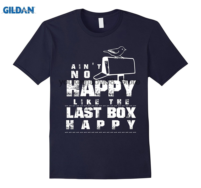 GILDAN Aint No Happy Like The Last Box Happy Cool Mail Man T-Shirt