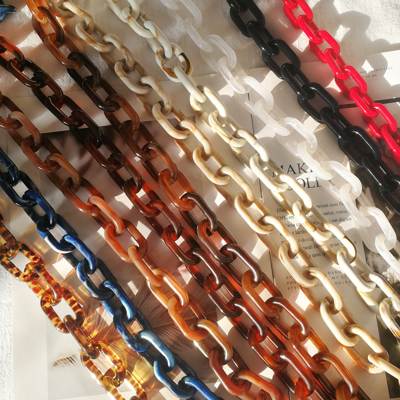 1 PCS 60cm/120cm Vintage Acrylic Chain Resin Bag Strap Detachable Shoulder Strap Replacement Bag Accessories  Resin Chain Straps