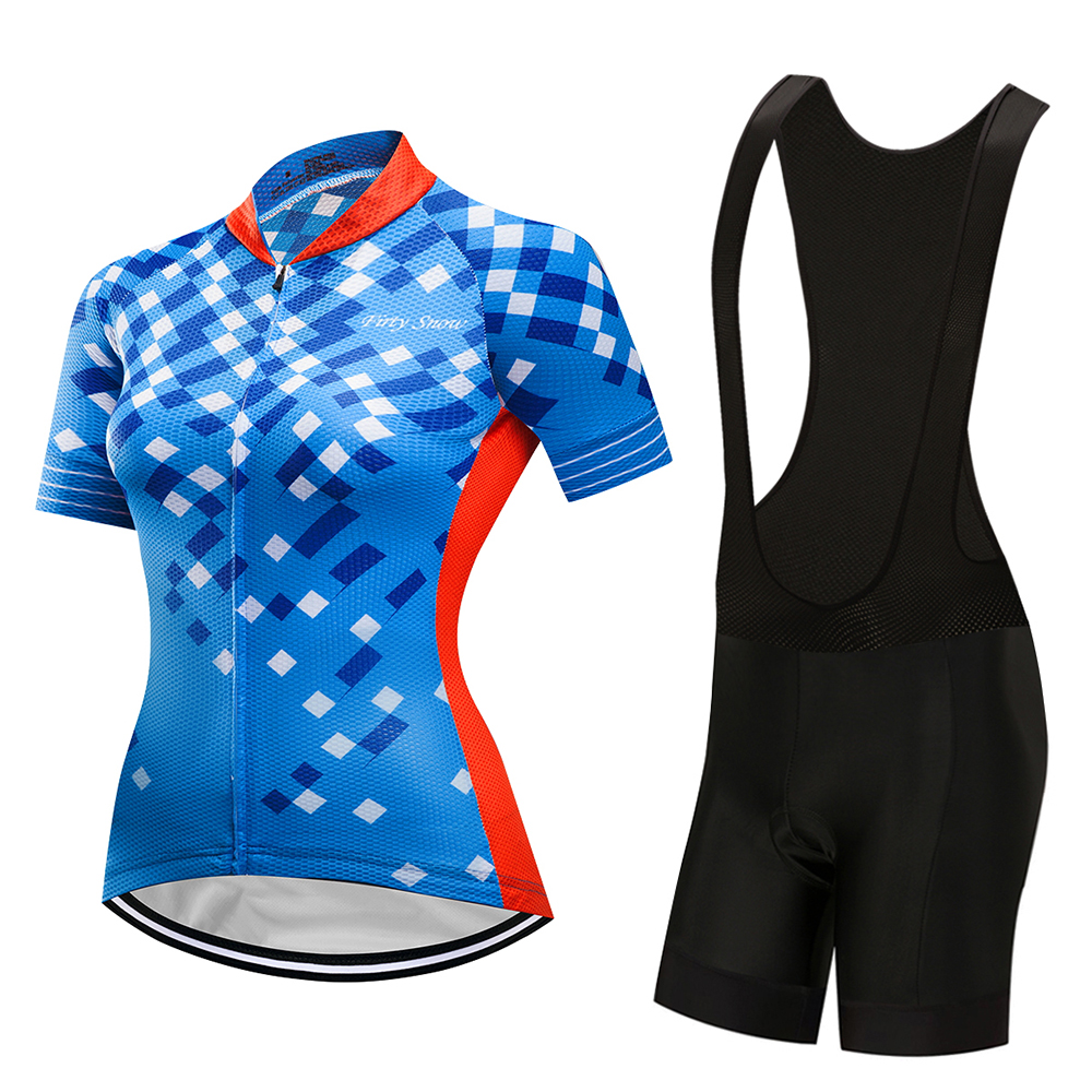 2018 Pro Team Short Sleeve Women Cycling Jersey Set Bike Shorts SET MTB Ropa Ciclismo Riding Wear Bicycle Clothes
