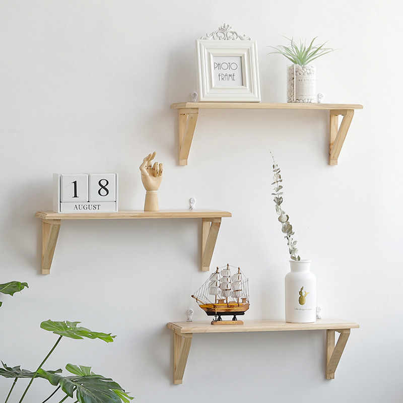 ... Wall Hanging Book Magazine Figurines Crafts Display Shelves DIY Wood  Home Kitchen Bathroom Closet Multi  ...