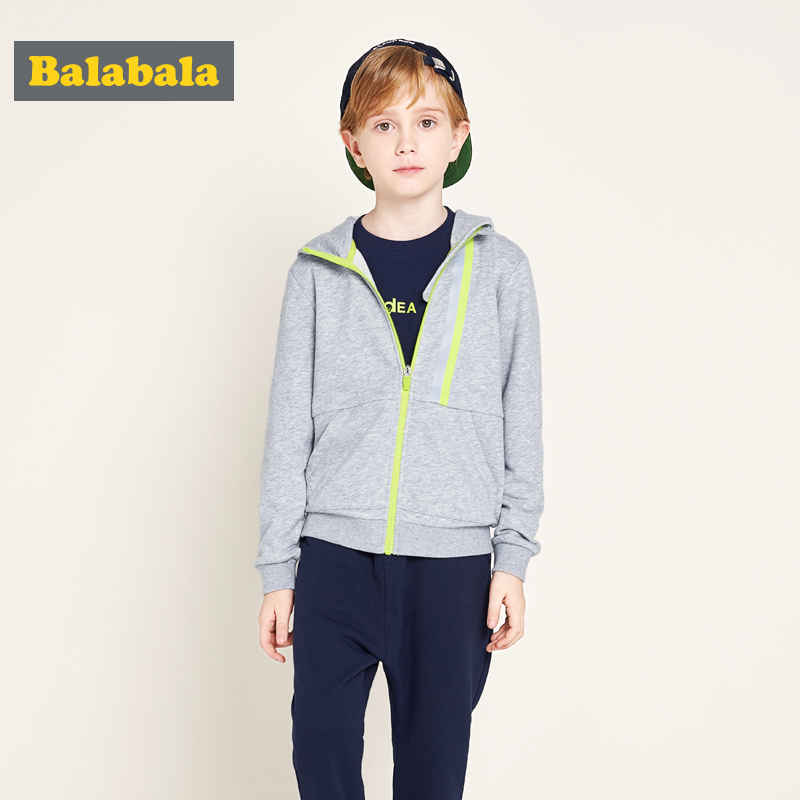 Balabala boys clothes children sport suit kids clothing bright zipper hoodies Sweatshirt+ pants trousers 2pcs tracksuit boys suit kids tracksuit clothing sets sport suit 100% cotton children s suit coat pants boys clothes kids clothing suit 2016