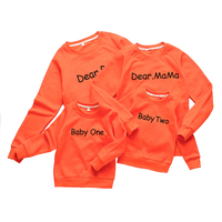New Family Matching Sweatshirts O Neck Father Mother Baby Family Clothing Cotton Black Gray Matching Family Outfits