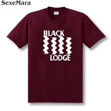 SexeMara T shirt Men's Twin Peaks Black Flag Tee Shirt Accept Customized 100% Cotton Free Shipping