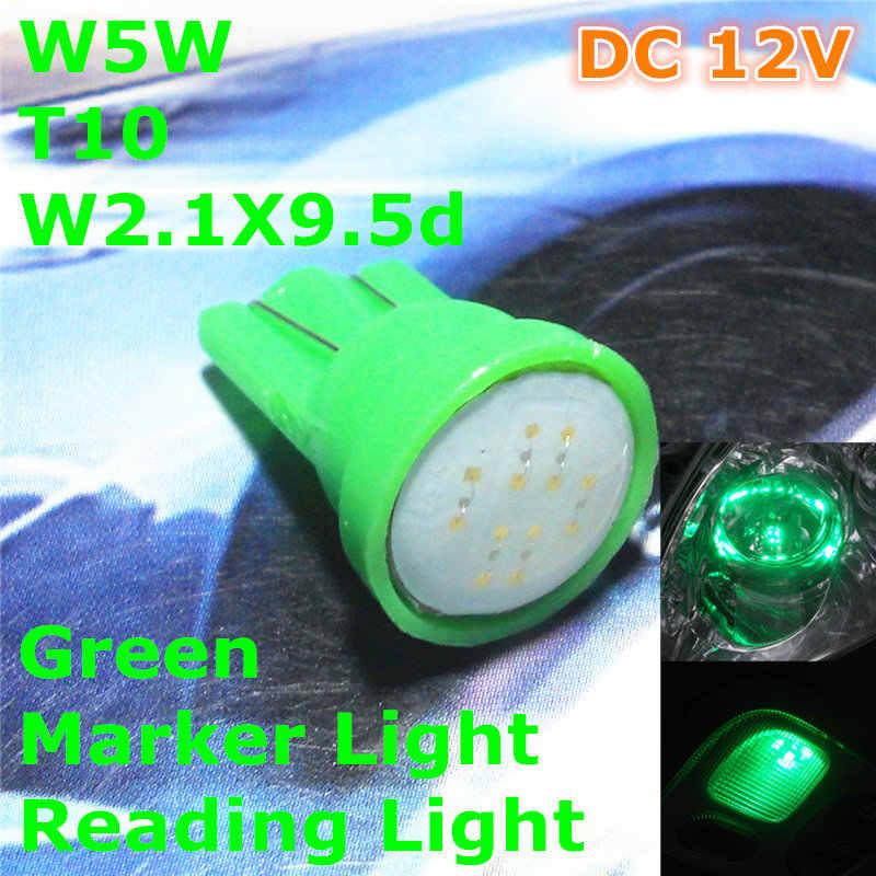 12 V LED Grün Farbe Auto T10 (Neue COB Lampe) W5W, 5d für Trunk-Boot Lizenz bord Leselampe