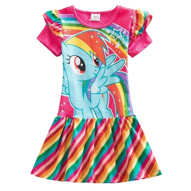 Baby girl Dress wearing summer cotton children's clothing girl children printing pattern dress baby girl princess clothes SH9113
