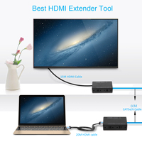 1080P HDMI Extender HDMI Extension Cord Transmitter Receiver Over Cat 5e CAT6 RJ45 Ethernet Lan Network Cable Upto 60M DVD To TV