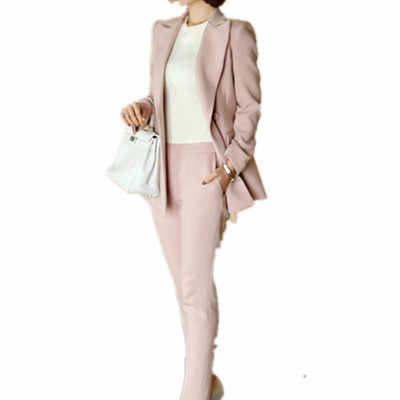 スーツ 2020 秋と冬の新韓国白のパンツ二組のスーツ 9 ペアビジネススーツスーツ