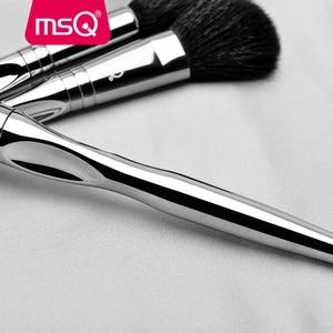 Image 3 - Msq プロフェッショナル 11 個パウダー化粧ブラシセット古典的なリップスティックファンデーションメイクアップブラシヤギ/馬の毛 pvc ハンドル