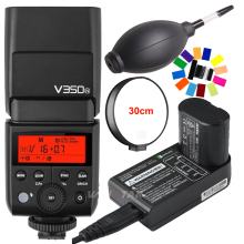 Godox V350N Mini Flash TTL HSS 1/8000s 2.4G X System Built-in 2000mAh Li-ion Battery Camera Speedlite Flash for Nikon Camera godox v350n mini flash ttl hss 1 8000s 2 4g x system built in 2000mah li ion battery camera speedlite flash for nikon camera
