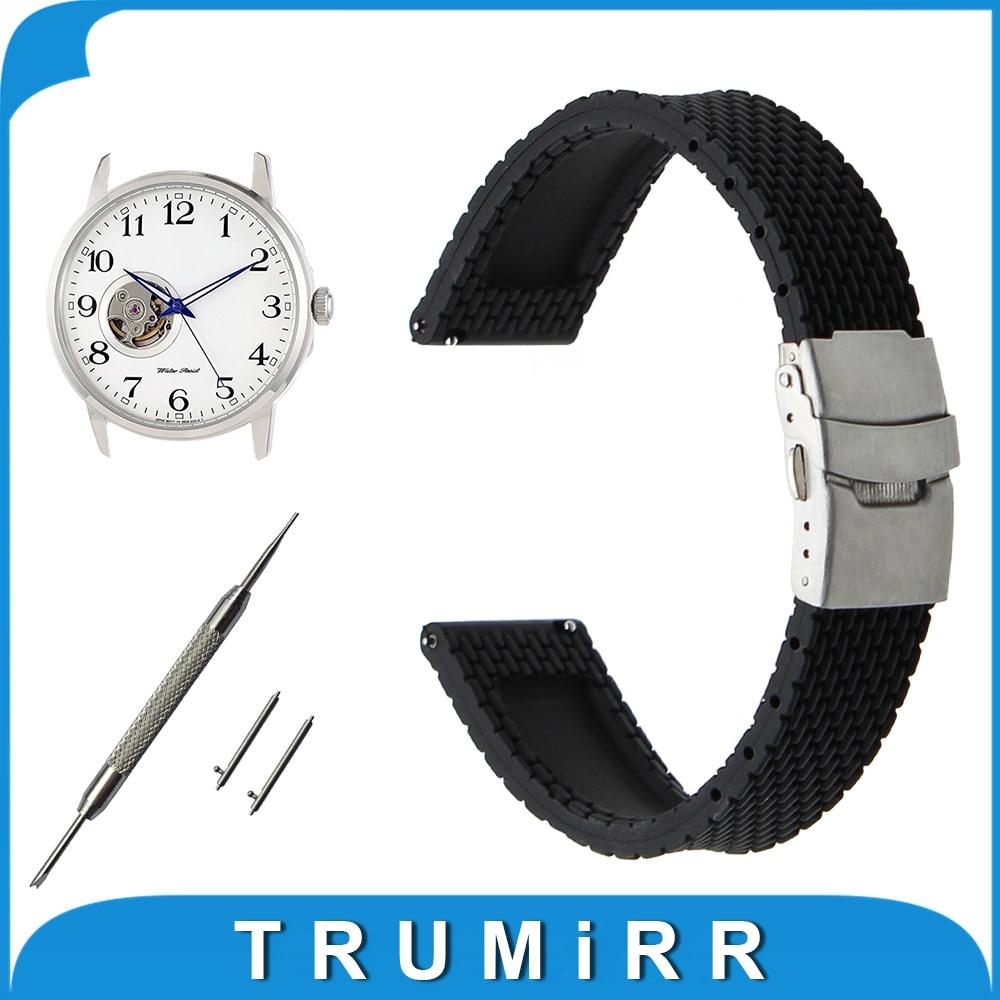 Quick Release Silicone Rubber Watchband 17mm 18mm 19mm 20mm 21mm 22mm 23mm 24mm for Orient Strap Wrist Belt Bracelet +Spring Bar silicone rubber watch band 17mm 18mm 19mm 20mm 21mm 22mm 23mm 24mm universal watchband strap wrist belt bracelet