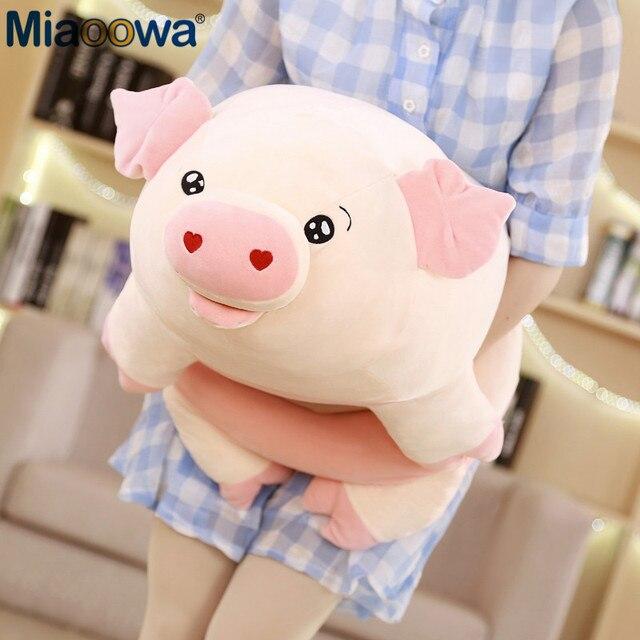 50/60/80 centímetros Bonito Porco Cor de Rosa de Pelúcia Brinquedos para As Crianças de Gordura de Porco Porco Zodíaco Chinês Boneca Macia almofada travesseiro Presentes do Aniversário Dos Miúdos Meninas