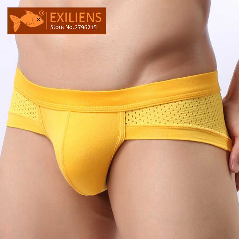 EXILIENS Sexy Men Briefs Underwear Mens Brief Modal Ropa Interior Hombre Slip Gay Calzoncillos Sous Vetement Size L-3XL 111901