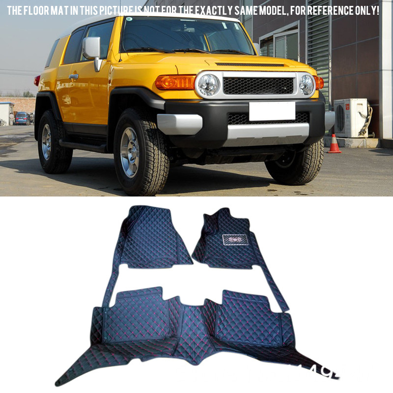 for TOYOTA FJ Cruiser 2008-2015 Interior Leather Custom Car Styling Auto Front & Rear Floor Mats Carpets Accessories