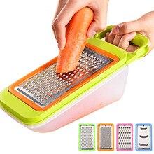 Dropshipping 5 em 1 ajustável aço inoxidável vegetal slicer cenoura ralador cortador de batata cozinha frutas vegetais ferramentas