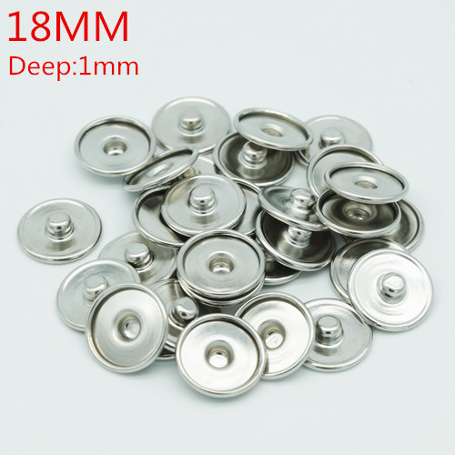 Hot sale 50PCS snap buttons 18MM for make print snap buttons or rhinestone snap buttons Fit 16mm glass cabochon PJ0002 цены онлайн