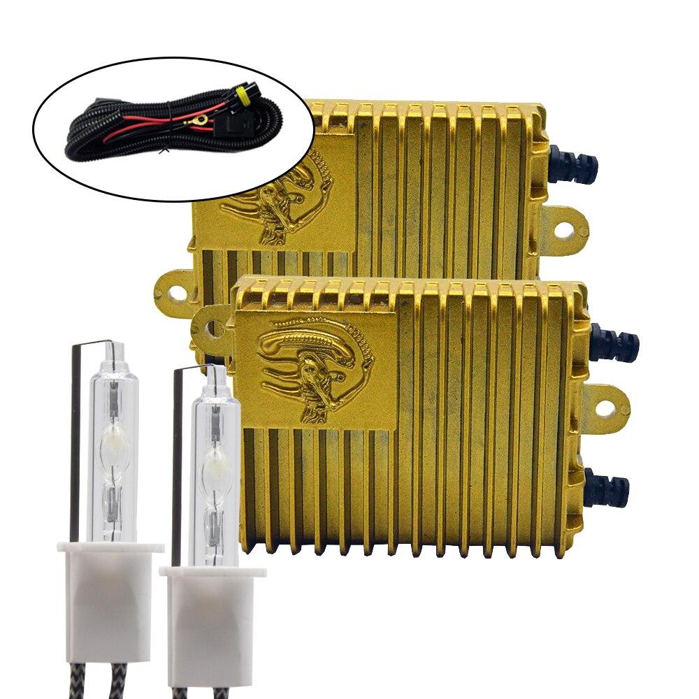 DUU 100 W Ballast Kit HID ampoule xénon 12 V H1 H3 H7 H11 9005 9006 4300 K 6000 K 8000 K Xeno phares bouton non réglable