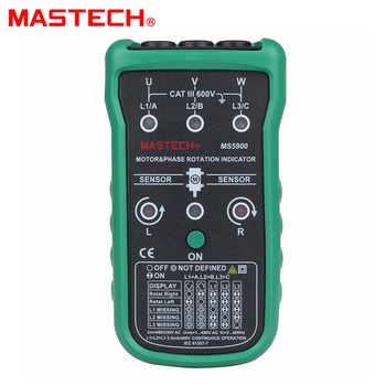 Mastech MS5900 3 Motor Meter Sequence Tester LED Field Rotation Phase Indicator 2~400Hz free shipping phase rotation indicator dt 901