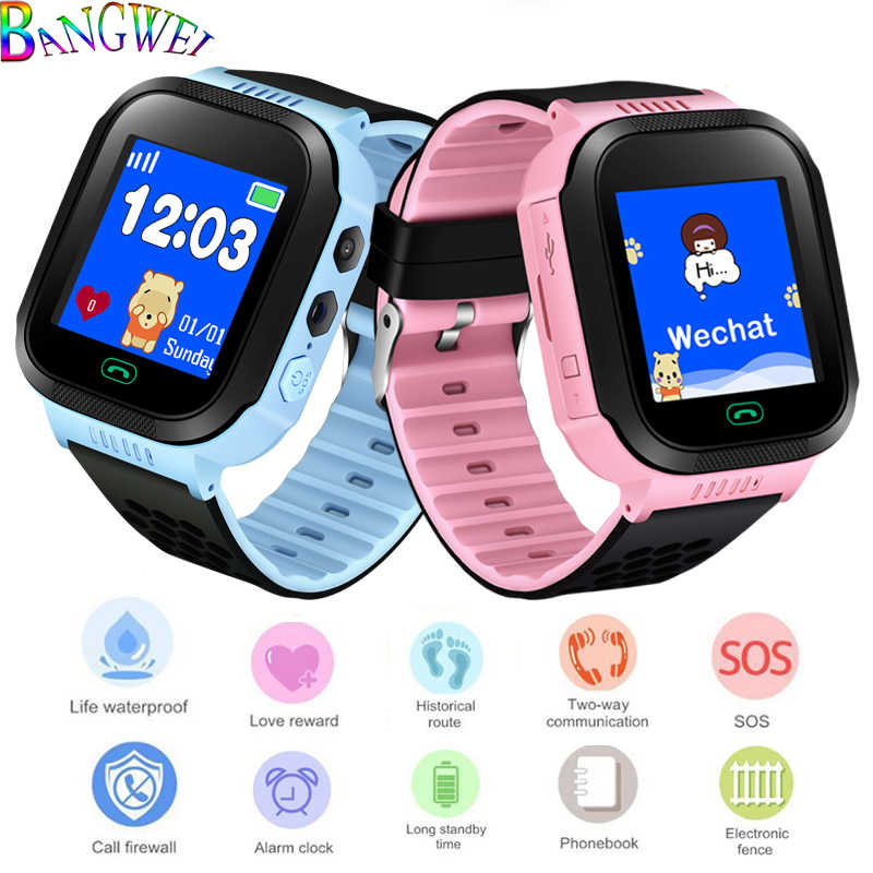 BANGWEI 2019 New Children Positioning Watches LBS tracker Children intelligent Anti-lost Watch SOS Help Digital Clock kids Watch