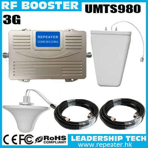 Wholesale RF 3G 2100MHZ UMTS950 Repeater 2100Mhz Mobile Phone Signal  Booster 300sqm Mobile/cell Phone Signal Repeater Amplifier