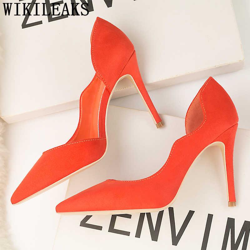 Partito scarpe estremo di alta tacchi Mocassino giallo scarpe tacchi sexy scarpe eleganti Fetish tacchi alti chaussures femme scarpe donna