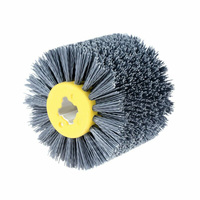 1* Abrasive Wire Brush Wheel Replacement For Wooden Furniture Surface Polishing
