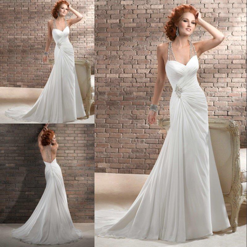 Halter neck wedding dress designs