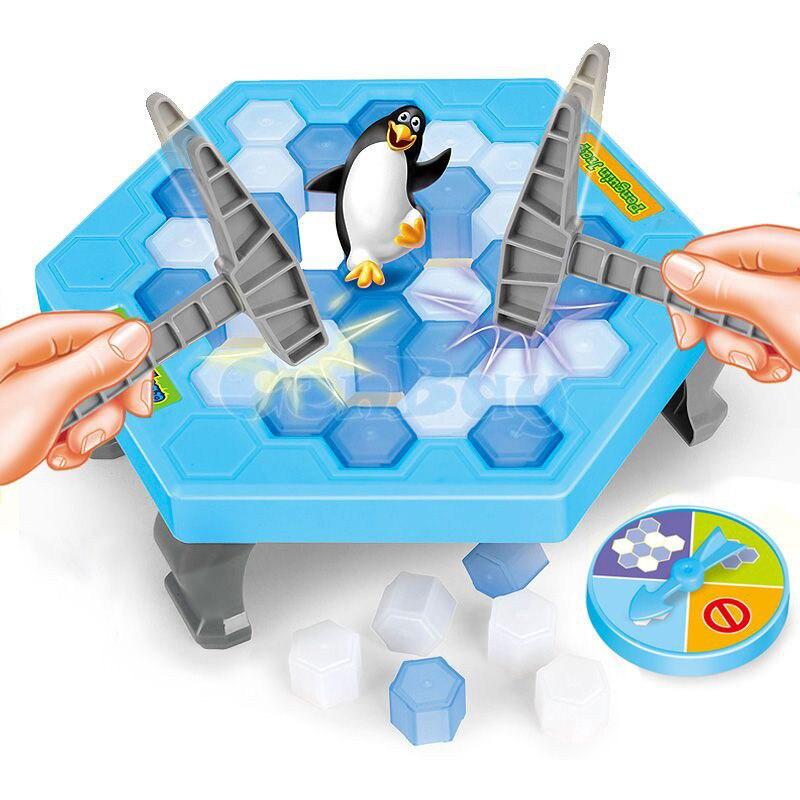 Divertido pingüino trampa interactiva juego de mesa de interior hielo Breaking Save The Penguin Parent-child MESA DE ENTRETENIMIENTO juguetes niños regalos