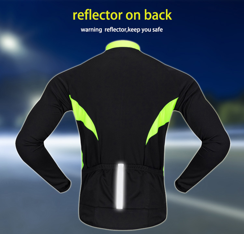 Image 4 - WOSAWE Autumn Cycling Jerseys Men Bicycle Sportswear Breathable Cycle Downhill MTB Reflective Long Sleeve Clothing Bike Shirts-in Cycling Jerseys from Sports & Entertainment