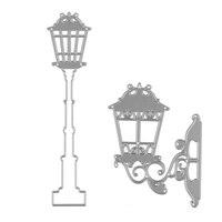 2Pcs/Set Street Lamp Wall Lamp Set DIY Scrapbooking Embossing Decor Metal Cutting Dies Stencils Craft for Handmade Card P30