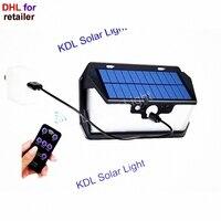 55 LED 900lm Солнечный свет с дистанционным управлением радар смарт 3 боковые осветительные светильники открытый 2030 cam Уличный настенный светиль...