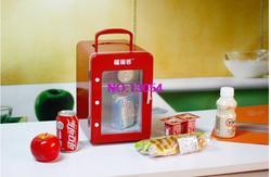 Оптовая продажа 4L холодильное Отопление холодильник полностью красная прозрачная дверь мини маленький холодильник автомобильный домашни...