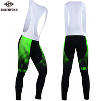 Siilenyond Vandalin Pro Spring 3D Gel Padded Coolmax Bicycle Bib Trousers Quick Dry Cycling Pants Ciclismo