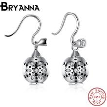 Bryanna Fashion 925 Sterling Silver Earrings  Vintage European And American Women'S Earrings Ear Jewelry sieraden PDRSVE027