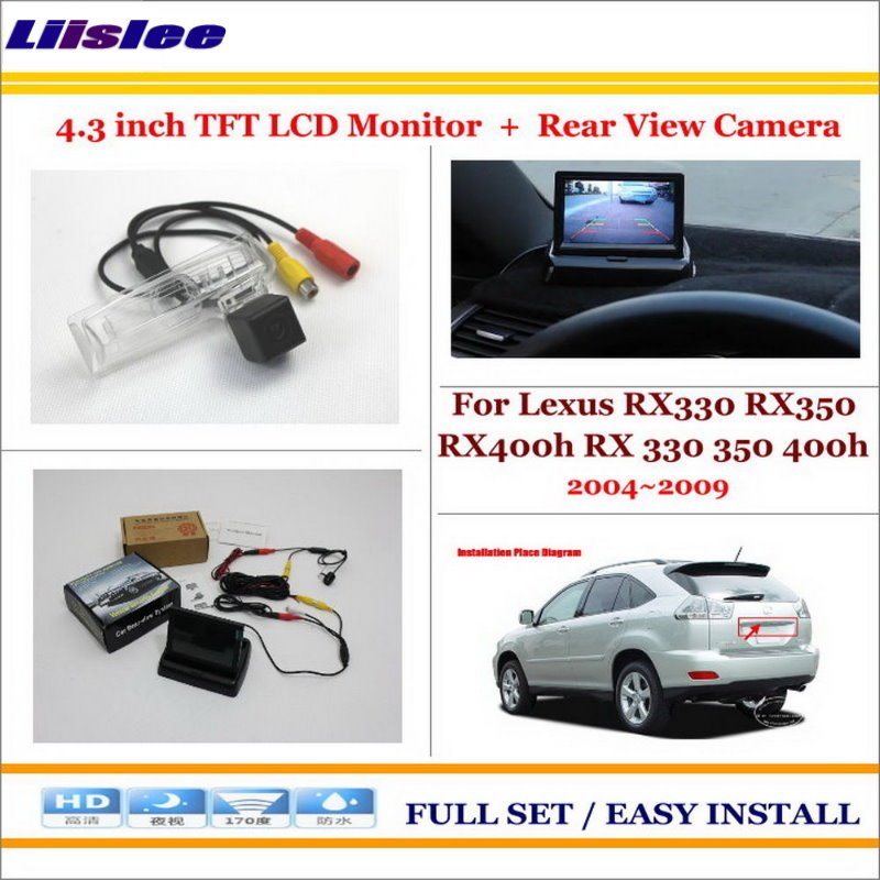 Liislee For Lexus RX330 RX350 RX400h RX 330 350 400h Car Parking Camera + 4.3 LCD Monitor NTSC PAL = 2 in 1 Parking Rear System