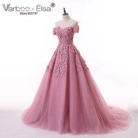 VARBOO ELSA Appliques Beaded Evening Dresses Cameo Tulle Sweetheart Saudi Arabic Prom Gowns Long Vestido De