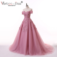 VARBOO ELSA Appliques Beaded Evening Dresses Cameo Tulle Sweetheart Saudi Arabic Prom Gowns Long Vestido De