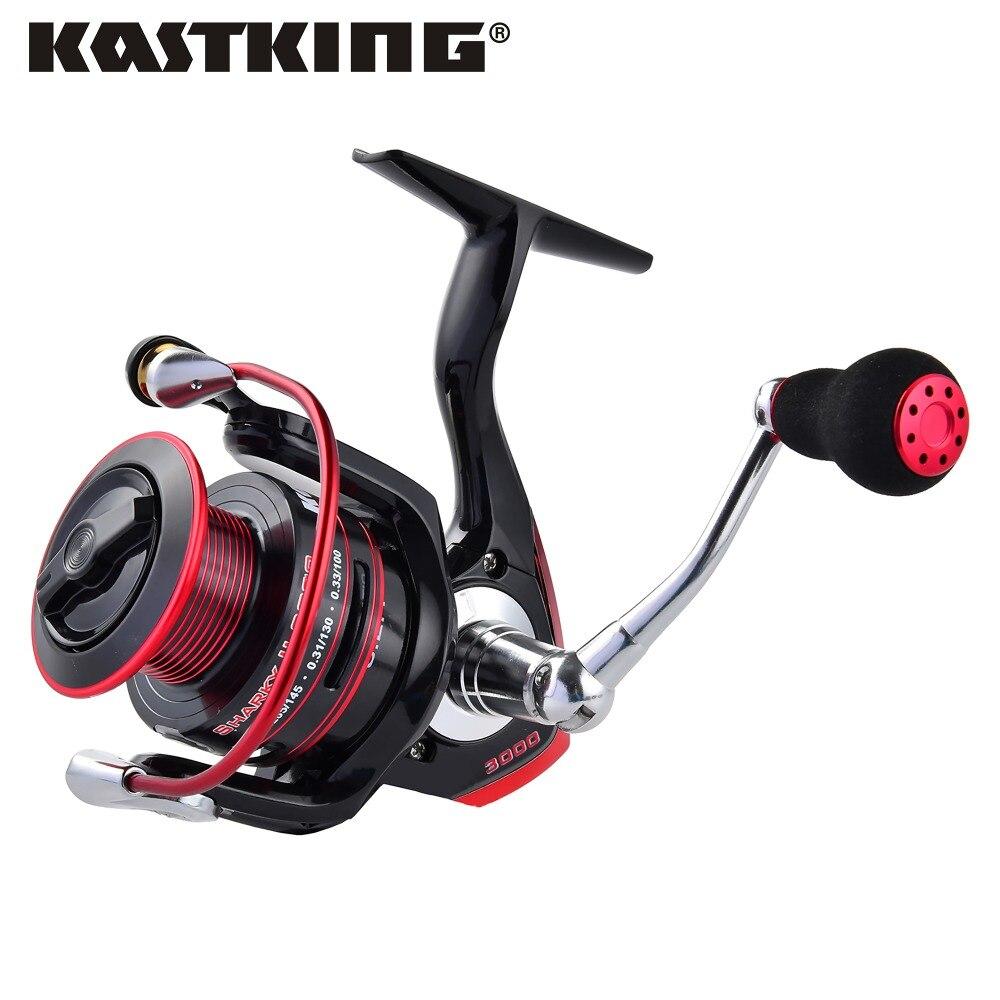 KastKing New 100 3 minute Water Resistant 11BBs Lighter Stronger Freshwater Spinning Reel 19KG Max Drag